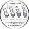 1 - 4 mm x 25° x 3.5 Platform Titanium Abutment, Angular Curve Minor, Aesthetic Shoulder