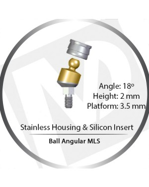18° x 2mm x 3.5 Platform Ball MLS Set – with Stainless Housing & Silicon Insert