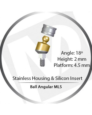 18° x 2mm x 4.5 Platform Ball MLS Set – with Stainless Housing & Silicon Insert