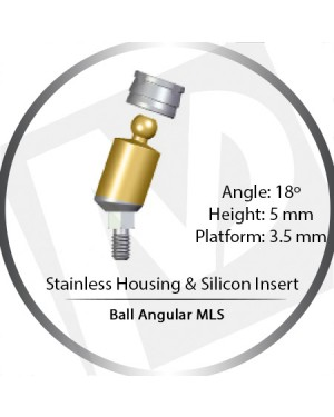 18° x 5mm x 3.5 Platform Ball MLS Set – with Stainless Housing & Silicon Insert