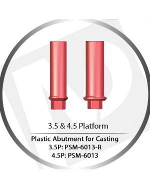 3.5 & 4.5 Platform HEX Base Plastic Straight For Casting