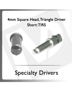 4mm Square Head Triangle Driver Short