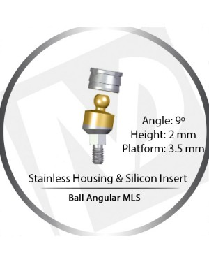 9° x 2mm x 3.5 Platform Ball MLS Set – with Stainless Housing & Silicon Insert