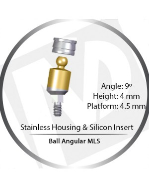 9° x 4mm x 4.5 Platform Ball MLS Set – with Stainless Housing & Silicon Insert
