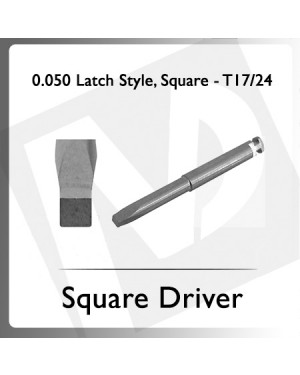 0.050 Latch Style, Square Driver T17/24