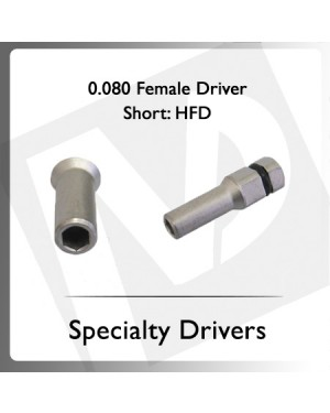 0.080 Hex Female Driver Short