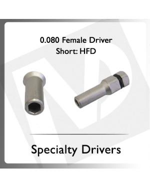 0.080 Hex Female Driver Short