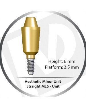 6mm x 3.5 Platform Aesthetic Minor Unit - Straight MLS
