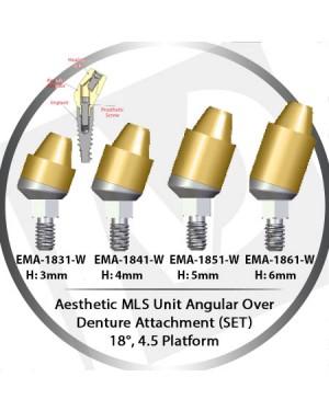 3 - 6 mm H x 18° x 4.5 Platform Angular MLS Unit Over Denture Attachment Set