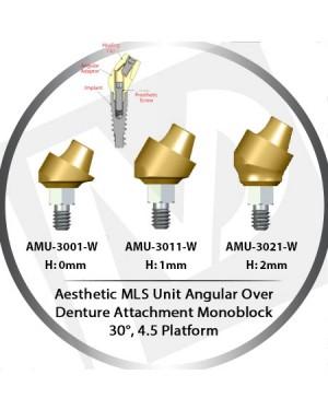 0 - 2 mm H x 30° x 4.5 Platform Angular MLS Unit Over Denture Attachment Monoblock