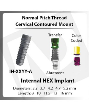 Implants – Normal Pitch Cervical Mount