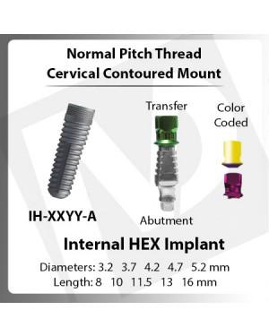 Implants – Normal Pitch Cervical Mount