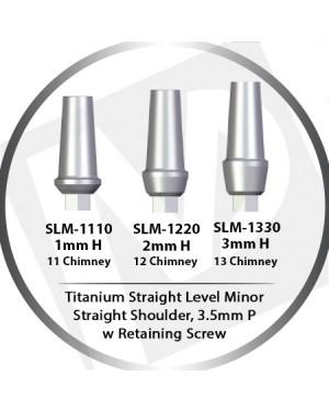 1 - 3mm x 3.5 Platform Titanium Abutment Straight Level Minor  - Straight Shoulder