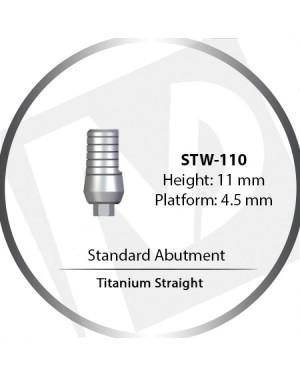 11mm x 4.5 Platform Titanium Abutment Straight Wide - Standard Abutment