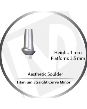 1mm x 3.5 Platform Titanium Abutment Straight Curve Minor  - Aesthetic Shoulder