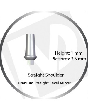 1mm x 3.5 Platform Titanium Abutment Straight Level Minor  - Straight Shoulder