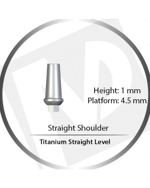 1mm x 4.5 Platform Titanium Abutment Straight Level Wide  - Straight Shoulder