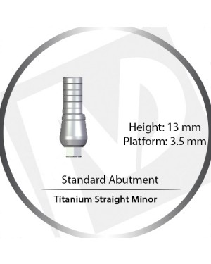 13mm x 3.5 Platform Titanium Abutment Straight Minor - Standard Abutment