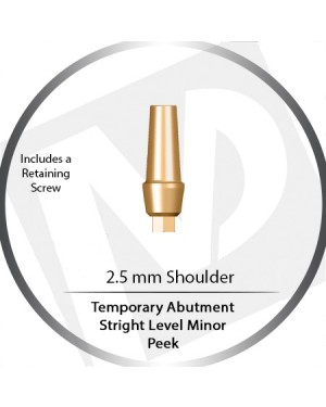 2.5mm Shoulder x 3.5 Platform Temporary Straight Level Minor PEEK