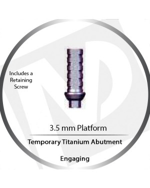 Temporary Titanium Abutment – Engaging – 3.5 Platform