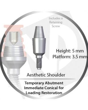 5mm X 3.5P Immediate Temporary Conical for Immediate Loading Restoration – Aesthetic Shoulder