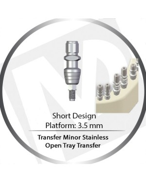 Transfer Minor Open Tray Stainless Short – 3.5 Platform
