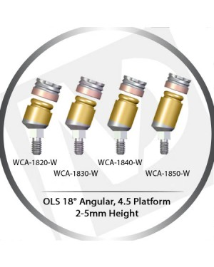 18° x 2-5mm x 4.5 Platform OLS Abutment Angular MLS System Concept