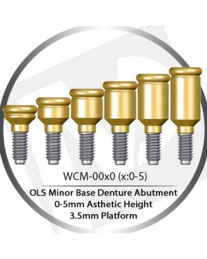 0 - 5mm – 3.5 Platform Base OLS Abutment Over Denture