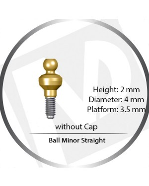 2mm x 4mm x 3.5 Platform Over Denture Ball Attachement Minor Straight – without Cap