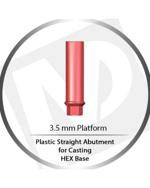 4.5 Platform HEX Base Wide Cylinder Plastic Straight For Casting