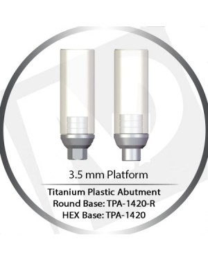 3.5 Platform HEX & Round Base Titanium Plastic Casting Abutment