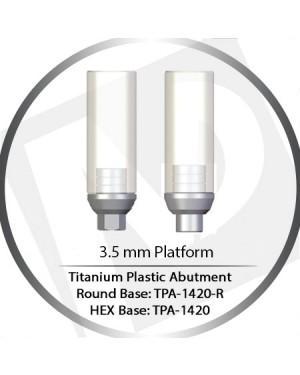 4.5 Platform Round Base Wide Cylinder Plastic Straight For Casting