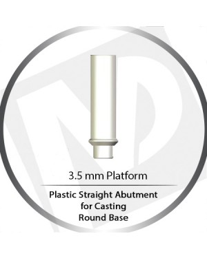 4.5 Platform Round Base Wide Cylinder Plastic Straight For Casting