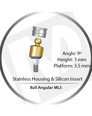 9° x 3mm x 3.5 Platform Ball MLS Set – with Stainless Housing & Silicon Insert