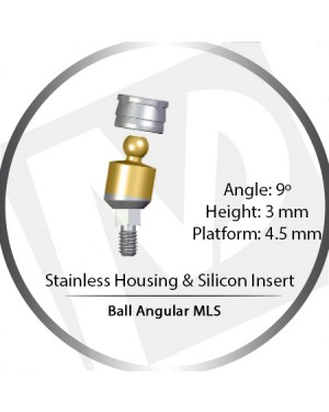 9° x 3mm x 4.5 Platform Ball MLS Set – with Stainless Housing & Silicon Insert