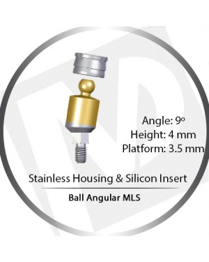 9° x 4mm x 3.5 Platform Ball MLS Set – with Stainless Housing & Silicon Insert