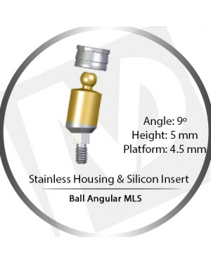 9° x 5mm x 4.5 Platform Ball MLS Set – with Stainless Housing & Silicon Insert