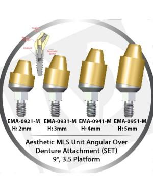 2 - 5 mm H x 9° x 3.5 Platform Angular MLS Unit Over Denture Attachment Set