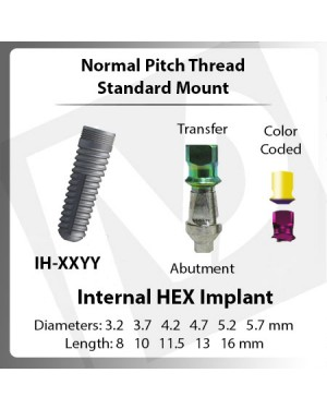 Implants – Normal Pitch Standard Mount