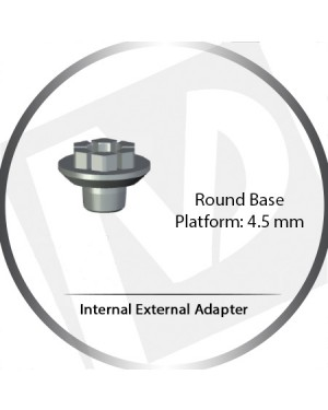 Round Base, 5 Platform, 4.5 Internal Hex, Internal External Adapter