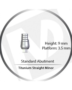 9mm x 3.5 Platform Titanium Abutment Straight Minor - Standard Abutment