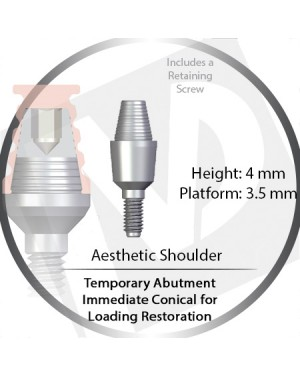 4mm X 3.5P Immediate Temporary Conical for Immediate Loading Restoration – Aesthetic Shoulder