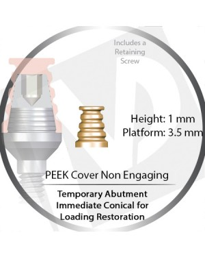 3.5 Platform Immediate Temporary Conical PEEK Cover non Engaging