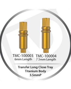 5 & 7.5mm X 3.5 Platform Long Transfer Minor Close Tray  – Titanium Body