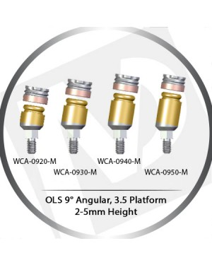 9° x 2-5mm x 3.5 Platform OLS Abutment Angular MLS System Concept